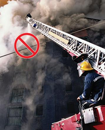 Fire Ladder Power Line