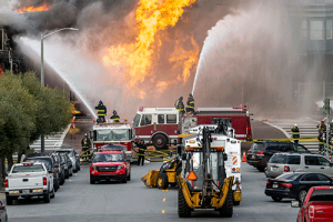 First Responders at a Natural Gas Explosion